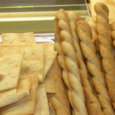 Grissini, crackers e gallette